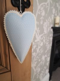 Metal Polka Dot Hanging Heart (Blue) by Parlane
