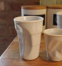 Porcelain Vending Cup with Crushed Effect by Parlane (Large)